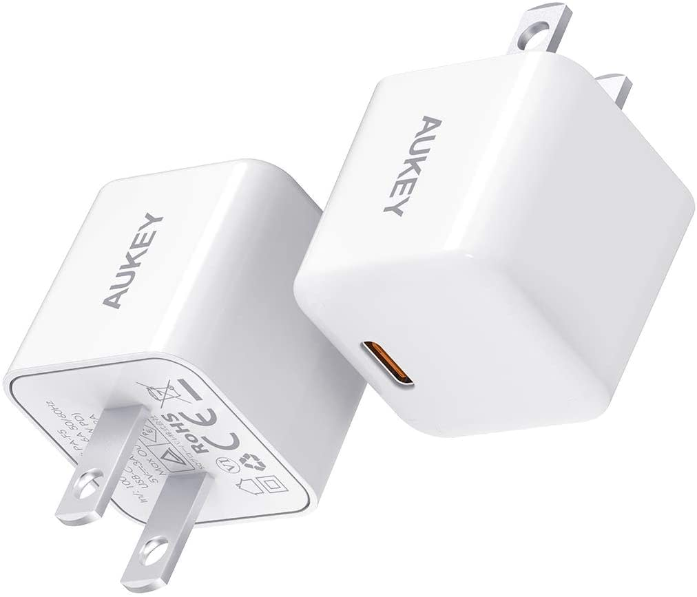 AUKEYオーキー2個セット 20W USB-C 超小型急速充電器 PA-F5